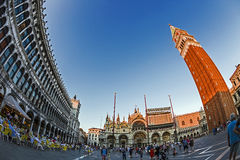 Fish-eye view of San Marco square in Venice, Italy 2 Stock Photography