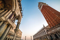 Fish-eye view of San Marco square in Venice, Italy 8 Stock Photography