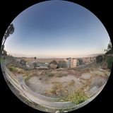 Fish eye view of the Santa Monica Coast Stock Images