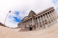 Fish-eye view of Utah Capitol building during day Royalty Free Stock Images