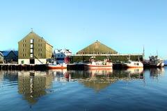 The fish factory  of Svinoya Stock Images