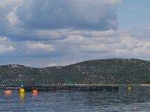 A fish farm in the Adriatic sea of Croatia Stock Images