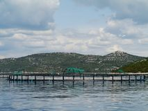 A fish farm in the Adriatic sea of Croatia Royalty Free Stock Image