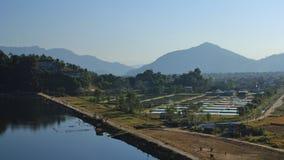 Fish farm at lake Begnas Tal, Lekhnath Royalty Free Stock Photo