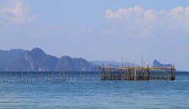 Fish farm. In open water Stock Photos