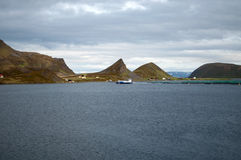 Fish Farm at the Porsangerfjord, Norway Royalty Free Stock Photography
