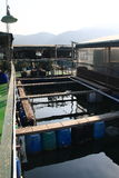 Fish farm on the sea Royalty Free Stock Photos