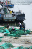 Fish farm in sea Royalty Free Stock Photography