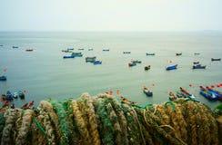 Fish farm in sea Stock Image