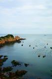 Fish farm in sea Stock Photography