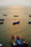 Fish farm in sea Stock Photos