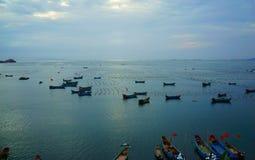 Fish farm in sea Stock Images