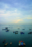 Fish farm in sea Stock Photo
