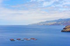 Fish farming in Atlantic Ocean. Stock Image