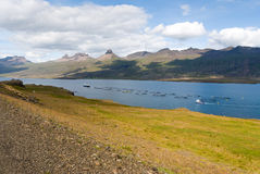Fish farming in Iceland Royalty Free Stock Photo