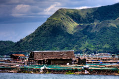 Fish farms. Located on Taal lake at the base of Taal volcano Royalty Free Stock Photo