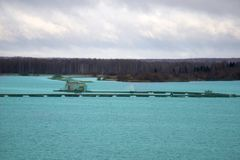 Fish farms for breeding fish Stock Photos