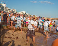 Fish festival in Quarteira, Portugal Stock Photography