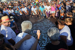 Fish festival in Quarteira, Portugal Stock Images