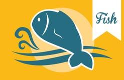 Fish figure design. Sea life concept with fish design, vector illustration 10 eps graphic Stock Image