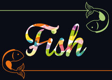 Fish figure design Stock Photography