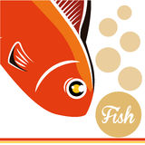 Fish figure design. Sea life concept with fish design, vector illustration 10 eps graphic Royalty Free Stock Photos