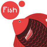 Fish figure design. Sea life concept with fish design, vector illustration 10 eps graphic Stock Photo