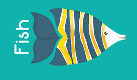 Fish figure design. Sea life concept with fish design, vector illustration 10 eps graphic Stock Photos