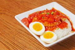 Fish fillet  and  egg Stock Photography