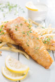 Fish fillet with french fries Stock Image