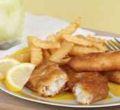 Fish Fillet Meal Stock Photography