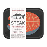 Fish fillet in a package. Vector illustration Royalty Free Stock Image
