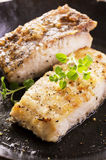 Fish Fillet in Pan Stock Photography