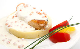 Fish fillet with potatoes Royalty Free Stock Photos