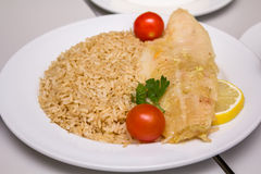 Fish fillet with rice Stock Image