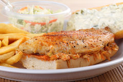 Fish Fillet Sandwich Stock Photography