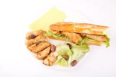 Fish fillet sandwich Stock Photo