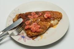 Fish fillet with shrimp salt and pepper Stock Image