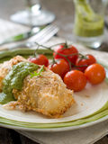 Fish fillet with tomato Royalty Free Stock Photography
