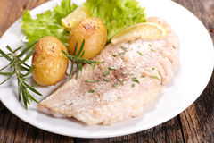 Fish fillet with vegetable Royalty Free Stock Image