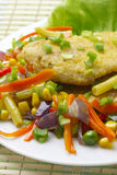Fish fillet with vegetables. Stock Image