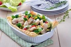 Fish fillet on vegetables Stock Image