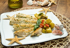 Fish fillet with vegetables Stock Image