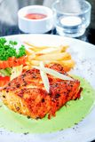 Fish fillet and vegetables