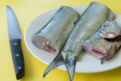 Fish filleting Stock Images