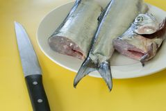 Fish filleting Royalty Free Stock Photo