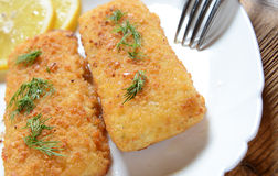 Fish fillets with cheese Royalty Free Stock Photo