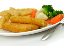 Fish fillets dinner Stock Photo