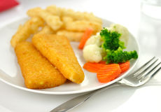 Fish fillets dinner Royalty Free Stock Images