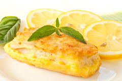 Fish fillets fried in batter Stock Image